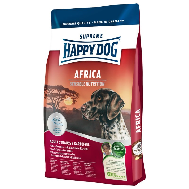 happy dog supreme africa z mi sem strusia stru adult psy doros e suche karmy dla ps w. Black Bedroom Furniture Sets. Home Design Ideas