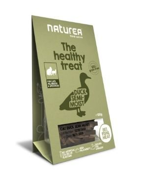 Naturea The Healthy Treat Cat Duck bezzbożowe przysmaki dla kota 100g