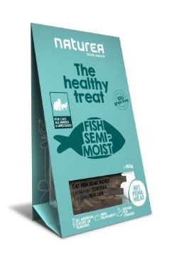Naturea The Healthy Treat Cat Fish bezzbożowe przysmaki dla kota 100g