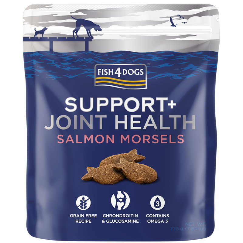 Fish4Dogs Salmon Morsels przysmaki, suplement diety na stawy 225g