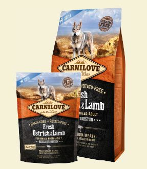 Carnilove Dog Fresh Ostrich & Lamb for Small Breed