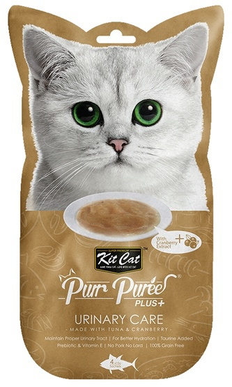 Kit Cat PurrPuree Plus+ Tuna Urinary Care 4x15g