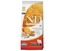 Farmina N&D Low Grain Codfish & Orange Adult Dog Medium & Maxi 12kg