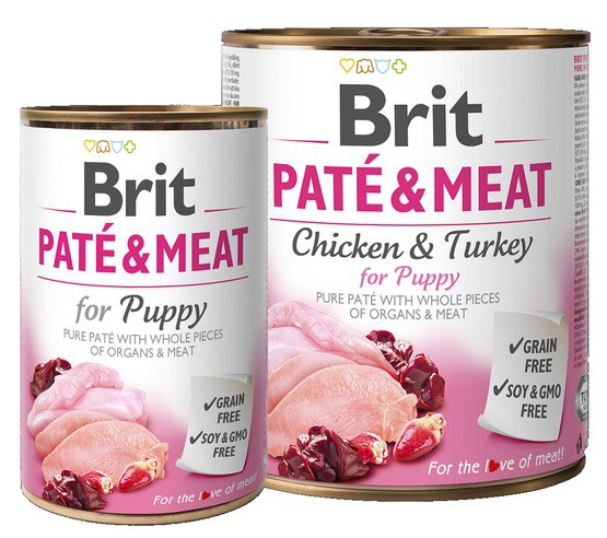 Brit Pate & Meat Dog Puppy puszka 800g