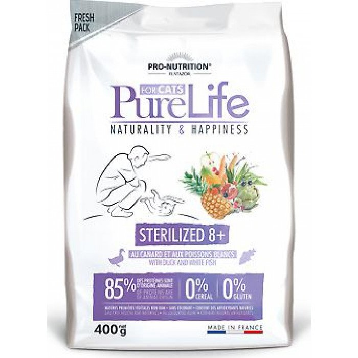 Pro-Nutrition Pure Life Sterilized 8+Duck z kaczką