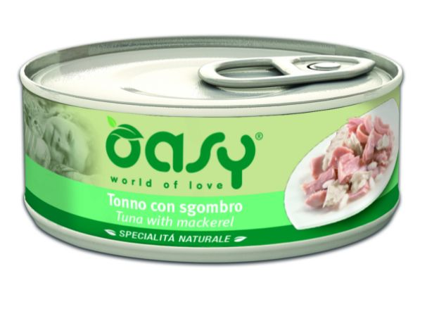 Oasy Natural Range Cat Adult Tuńczyk z makrelą 150g