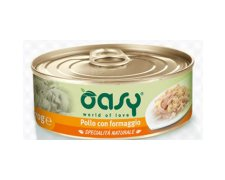 Oasy Natural Range Cat Adult Kurczak z serem 70g