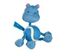 Trixie Assortment Animals with Rope, Plush Zabawka sznur z piłką tenisową 16cm